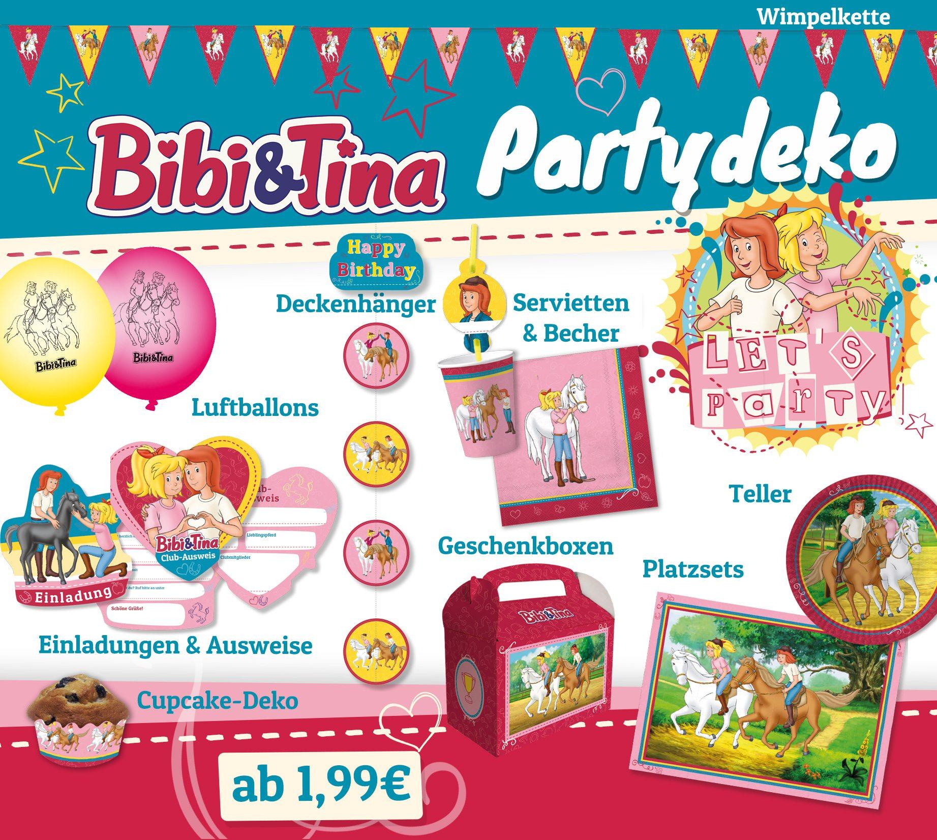 """▷ neu! bibi & tina - partydeko & soundtrack """"tohuwabohu total, Einladungsentwurf"""