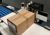 Etikettieren von Kisten und Kartons